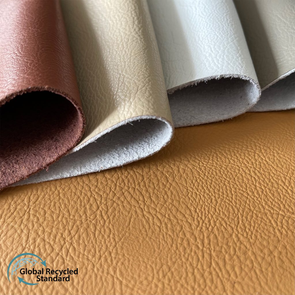 Waterborne recycled leather