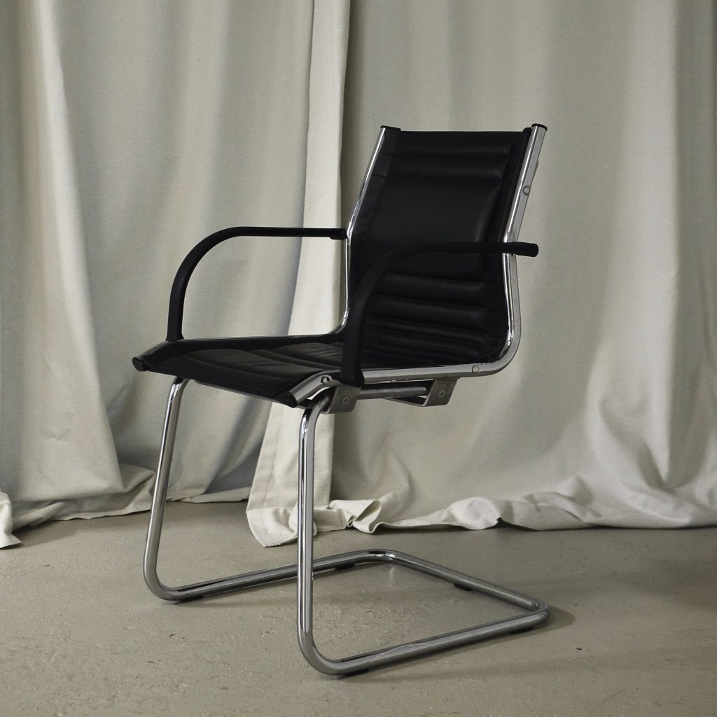 Waterborne recycled leather for chair