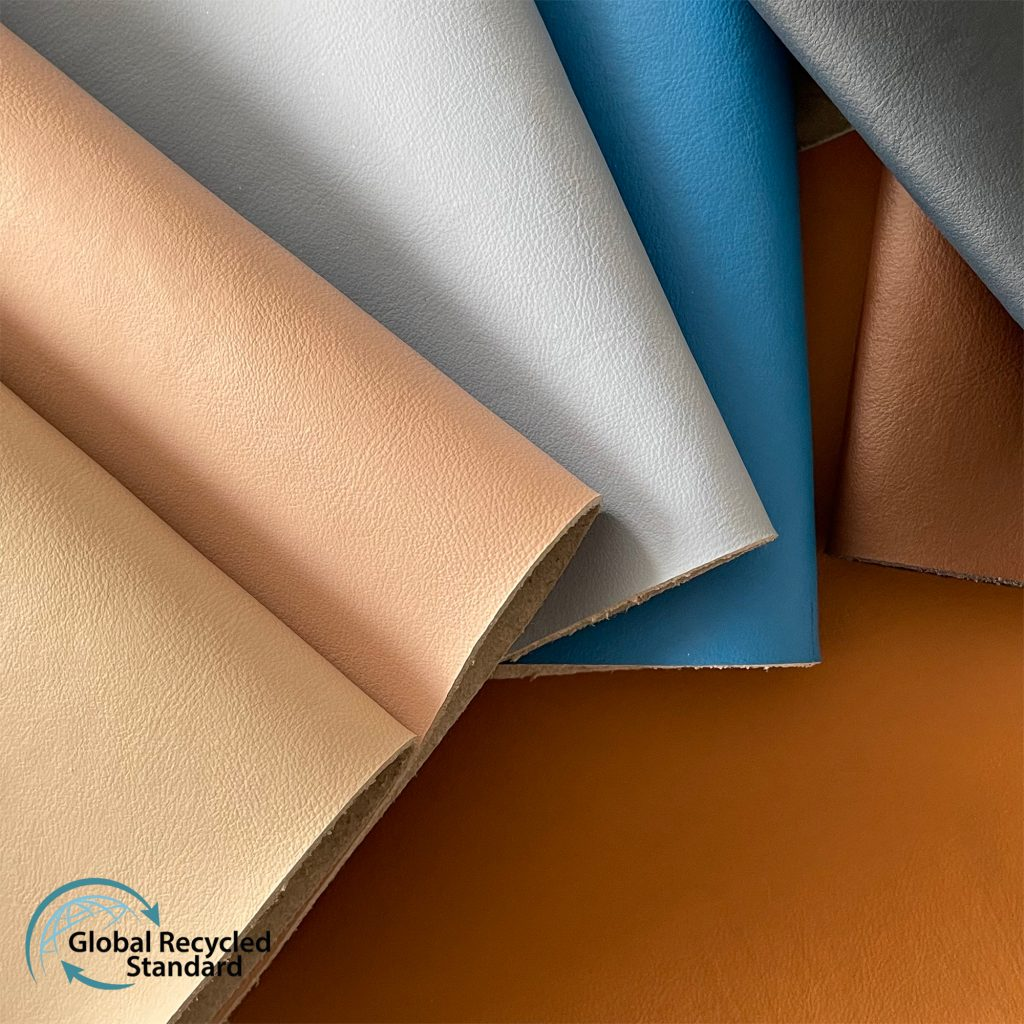 waterborne recycled leather GRS